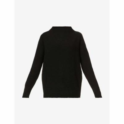 ヴィンス VINCE レディース ニット・セーター トップス High-neck cashmere jumper Black-blk