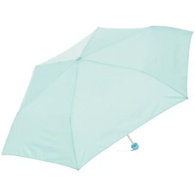 セブンプレミアムライフスタイル 女児ドット柄 折りたたみ傘 ミントグリーン