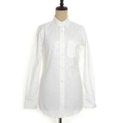 【中古】未使用品 コエ KOE × トムブラウン THOM BROWNE ボタンダウン シャツ 長袖 コットン M ホワイト 白