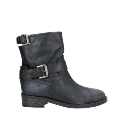 VIA ROMA 15 ショートブーツ ファッション  レディースファッション  レディースシューズ  ブーツ  その他ブーツ ブラック