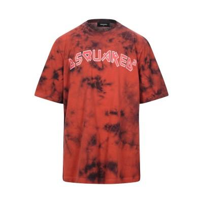 ディースクエアード DSQUARED2 T シャツ 赤茶色 S コットン 100% T シャツ