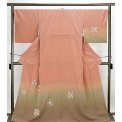 訪問着 新品仕立済 正絹 鏡面模様 訪問着 新品  仕立て上がり  着物