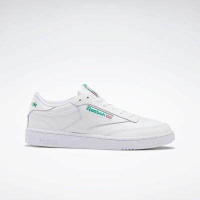 【Reebok公式通販】 クラブ シー / Club C 85 Shoes ホワイト/グリーン / リーボック