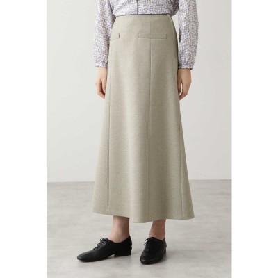 ◆リネンボンディングスカート キナリ×ネイビー1