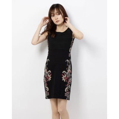 デシグアル Desigual ドレス袖なし (グレー/ブラック)