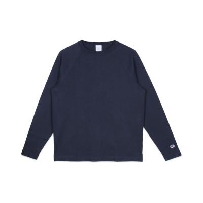【スニークオンラインショップ】 チャンピオン Champion Tシャツ 長袖 ロンT カットソー メンズ T1011 RAGLAN LONG SLEEVE T-SHIRT ブラック ホワイト メンズ ネイビー L SNEAK ONLINE SHOP