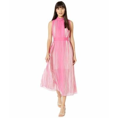 ビーシービージーマックスアズリア ワンピース トップス レディース Rainbow Pleated Midi Dress Ibis Rose/Watercolor