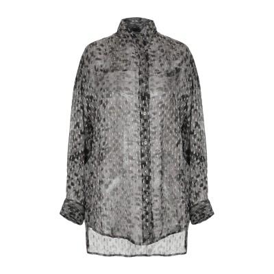 イロ IRO シャツ 鉛色 34 レーヨン 92% / Lurex® 8% シャツ