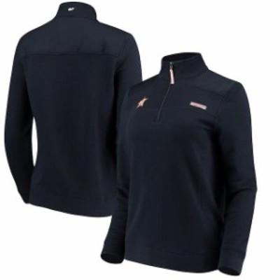 Vineyard Vines ヴィニヤード ヴァインズ スポーツ用品  Vineyard Vines Houston Astros Womens Navy Quarter-Zip Shep Shirt
