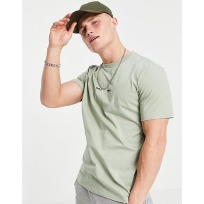 フレッドペリー Fred Perry メンズ Tシャツ トップス embroidered t-shirt in sage セージ