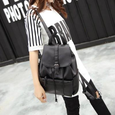(Beststore/ベストストア)レディースファッション通販リュックサック レディースバッグ 黒リュック 軽量 レザーリュック おしゃれミニバック通勤通学A4ファイル対応 A4用紙対応/レディース ブラック