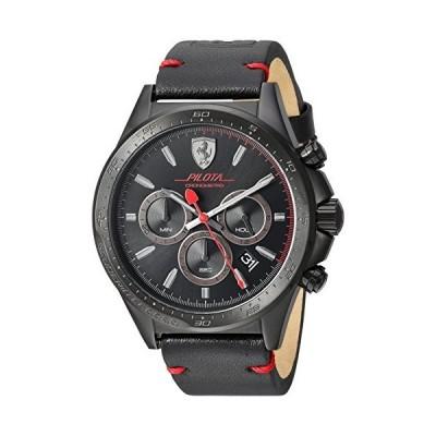 フェラーリMen 's ' pilota ' QuartzステンレススチールandレザーCasual Watch , Color : Black ( Model : 830434?)