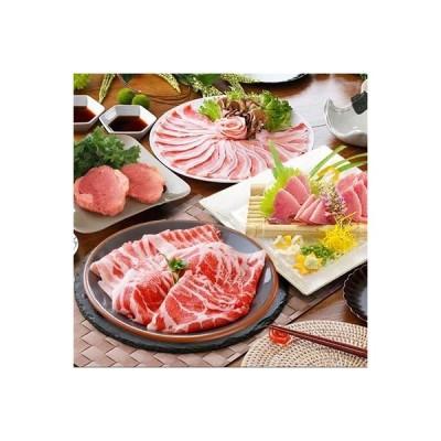 枕崎市 ふるさと納税 定期便(2回配送)鹿籠豚(枕崎産黒豚)&1本釣りかつお