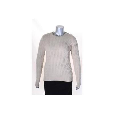 チャータークラブ セーター ニット Charter Club Beige メタリック 長袖 CrewNeck セーター XL MSRP 59 LAFO