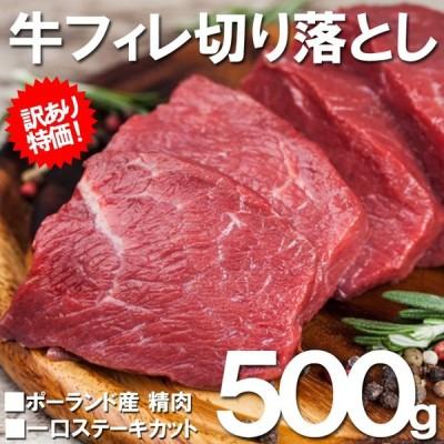 同時に2セット購入で1袋 500gプレゼント! 牛 肉 訳あり 一口 牛フィレ ステーキ 500g BBQ 牛ヒレ ヒレ バーベキュー 不揃い わけあり グルメ