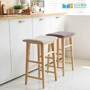 【MH家居】吧椅 吧檯椅 高腳椅 西力特原木吧台椅 棕色
