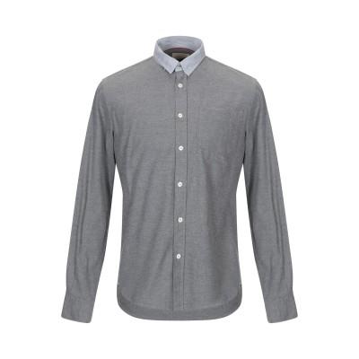 グランシャツ GLANSHIRT シャツ グレー M コットン 100% シャツ