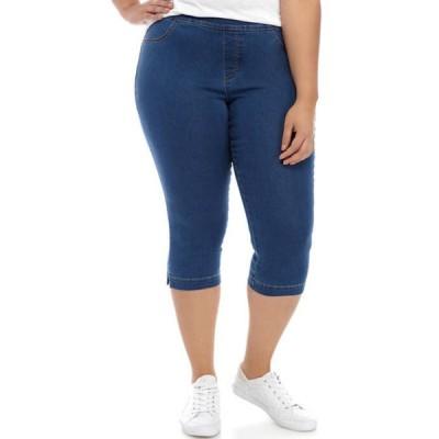 キム ロジャース レディース カジュアルパンツ ボトムス Plus Size Knit Pull On Capri Pants