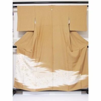 色留袖 正絹 1つ紋 寿光織 霞取りに道長 金銀四季花文 山吹色 154cm前後ベスト 美品 お薦めです