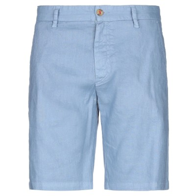 HOMEWARD CLOTHES バミューダパンツ スカイブルー 46 麻 55% / コットン 43% / ポリウレタン 2% バミューダパンツ