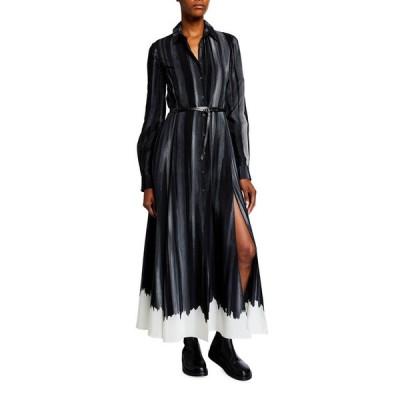 アルチュザラ レディース ワンピース トップス Striped Silk Maxi Shirtdress