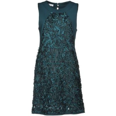 X'S MILANO ミニワンピース&ドレス グリーン 42 ポリエステル 100% / レーヨン / ナイロン / ポリウレタン ミニワンピース&