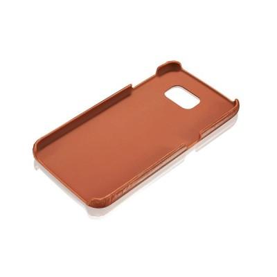 KAVAJ Galaxy S6用 レザーケース 「トウキョウ」 コニャックブラウン - 超薄型本革張りのハードカバー、名刺入れ付き ‐ Sa