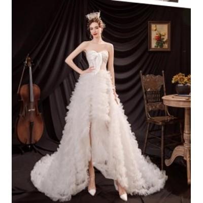 星空ロマンティック花嫁ウェディングドレス結婚式礼服パーティードレスワンピースドレス ロングタイプスカートイブニングドレス披露宴森