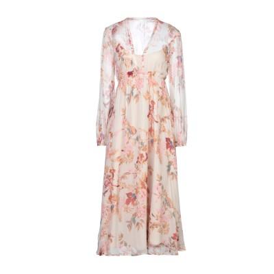 カオス KAOS 7分丈ワンピース・ドレス ベージュ 40 レーヨン 100% 7分丈ワンピース・ドレス