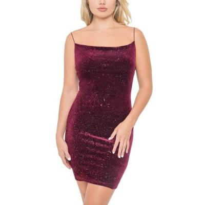 ビーダーリン レディース ワンピース トップス Juniors' Glitter Velvet Dress