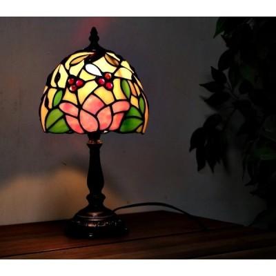 ステンドグラス テーブルランプ 卓上ランプ ティファニー 照明器具 花 スタンドライト