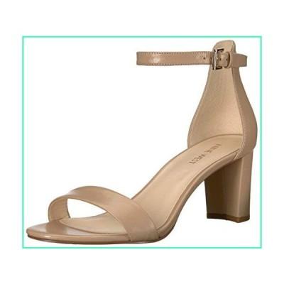 NINE WEST Women's Pruce Leather Heeled Sandal, Natural, 6.5並行輸入品