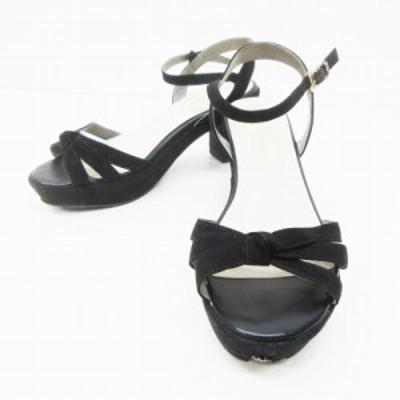 【中古】オリエンタルトラフィック ORIENTAL TRAFFIC WA サンダル 靴 ストラップ チャンキー M(約23-23.5cm相当)  黒