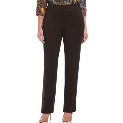 インベストメンツ レディース カジュアルパンツ ボトムス Plus Size the PARK AVE fit Pull-On Straight Leg Pant with Pockets Coffee