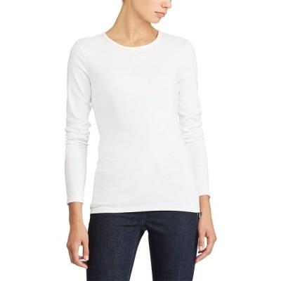 ラルフローレン カットソー トップス レディース Long-Sleeve Stretch T-Shirt White