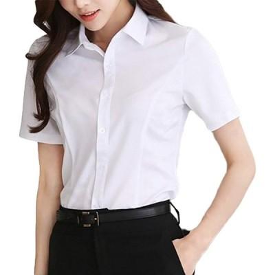 (アンジュ)Ange. ブラウス レディース yシャツ オフィス (XLサイズ)
