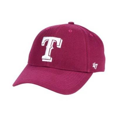 47ブランド メンズ 帽子 アクセサリー Texas Rangers Cardinal MVP Cap Cardinal Red