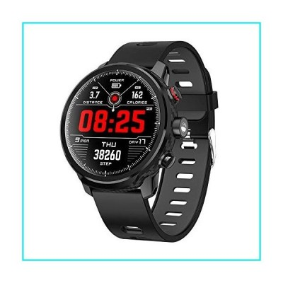 Smart Watch Activity Tracker Fitness Watch for Men Women Waterproof Heart Rate Monitor Watches Sleep Monitoring (Black)【並行輸入品】