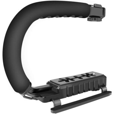 DONWELL カメラスタビライザー デジタル一眼レフカメラ/ビデオカメラ対応 撮影安定化機材 手振れ防止 スポンジ付きハンドルグリップ(ブラック)