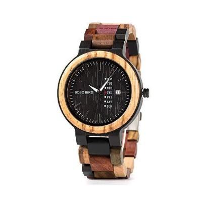 【並行輸入品】Colorful Wooden Watches for Men Week Date Display Casual Handmade Qu