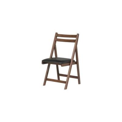 ds-1314898 折りたたみ椅子(作業用チェア) 木製×合成皮革/合皮 BR ブラウン 【代引不可】 (ds1314898)
