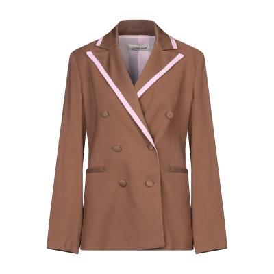 GIULIETTE BROWN テーラードジャケット ブラウン 0 レーヨン 80% / ウール 17% / ポリウレタン 3% テーラードジャケット