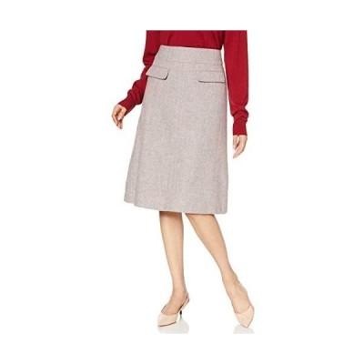 [ナチュラルビューティーベーシック] スカート メランジスカート レディース 017-9220007 (グレー系 S)