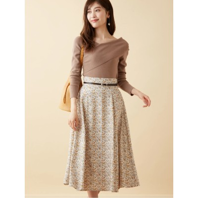 オリジナル幾何柄フレアスカート