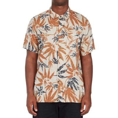 ビラボン BILLABONG メンズ 半袖シャツ ボタニカル柄 トップス Kern Leaf Print Short Sleeve Button-Up Shirt Chino