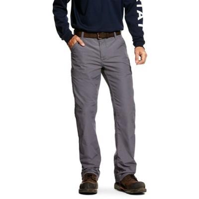 アリアト カジュアルパンツ ボトムス メンズ Ariat Men's Fire Resistant M4 Relaxed DuraLight Ripstop Work Pants Gray