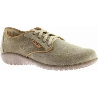 Naot レディーススニーカー Tiaki Lace Up Shoe Khaki/Biscuit Leathe