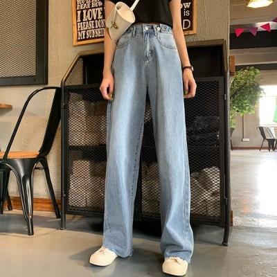 レーディス ワイドパンツ ストレートジーンズ 韓国ファッション 春・夏・秋・冬  スリム hgs00002 送料無料