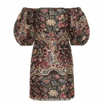 エトロ Etro レディース ワンピース ワンピース・ドレス Off-the-shoulder jacquard minidress