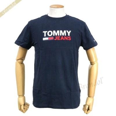 トミージーンズ TOMMY JEANS メンズ Tシャツ ロゴ S/M/L ネイビー DM0DM07843 C87